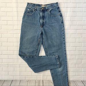LONDONJEAN high rise vintage blue jeans